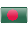 Flags Bangladesh in the form of a magnet on vector image vector image