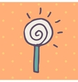 Flat icon of round lollipop vector image vector image