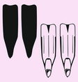 flippers for diving vector image vector image