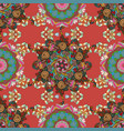 flowers on pink brown and green colors fabric vector image vector image
