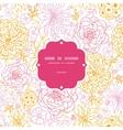 flowers outlined frame seamless pattern background vector image