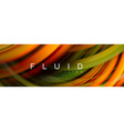 flowing glowing color motion concept trendy vector image vector image