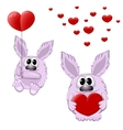 Funny animals with heart vector image
