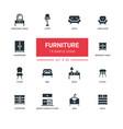 furniture - line design icons set vector image vector image