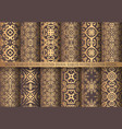 golden arabesque patterns vector image vector image