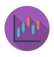 Graph flat single icon vector image vector image