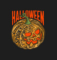 halloween pumpkin with lettering vect vector image