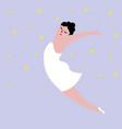 happy plus size dancing girl body positive vector image vector image