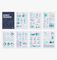 Infographic brochure elements for business