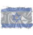 israel silk flag vector image vector image