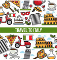 italian symbols and text sample in block poster vector image