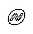 letter n sport modern vector image vector image
