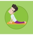 Man practicing yoga upward dog pose vector image vector image