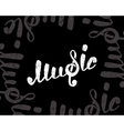 Music logo on black vector image vector image