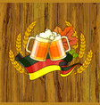 octoberfest festival cartoon design with glass of vector image