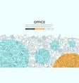 office doodle website template design vector image
