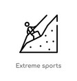 outline extreme sports icon isolated black simple vector image vector image