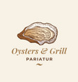 oysters and grill abstract sign symbol or vector image vector image