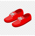 pair of red shoes isometric icon vector image vector image