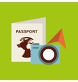 passport travel camera sunglasses vector image vector image