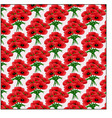 pattern bouquet of poppies vector image