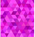 Pink triangle mosaic background design vector image