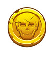 pirate black mark or gold coin for game vector image