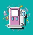 pump gasoline station car service vector image