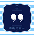quote symbol icon graphic elements for your vector image vector image