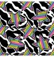 Rainbow stars seamless pattern vector image
