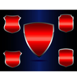 red shields vector image vector image