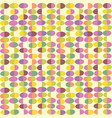 retro seamless pattern of abstract easter eggs vector image vector image