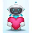 Robot with Heart vector image vector image