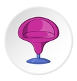 Round armchair icon cartoon style vector image vector image