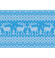Scandinavian style seamless knitted pattern with vector image vector image