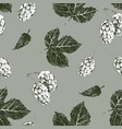 seamless pattern with hand drawn hop vector image vector image