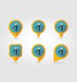 secateurs pruner averruncator flat pin map icon vector image vector image