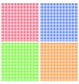 Set of Colorful Checkered Patterns vector image