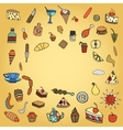 set of food theme vector image