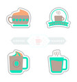 sets of label frames and badges icons coffee vector image vector image