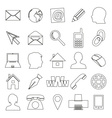 Simple outline icons for business card and