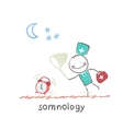 somnology catches hours vector image vector image