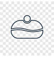 sufganiyah concept linear icon isolated on vector image vector image
