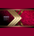 textural red background with mosaic gold stripes vector image vector image