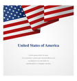 united states america insignia template vector image vector image
