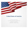 united states america insignia template vector image