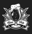 vintage beer festival logo concept vector image vector image