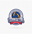 volleyball tournament logo vector image vector image