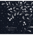 White sprig with berries on dark background vector image vector image