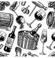 Wine seamless pattern alcoholic drink